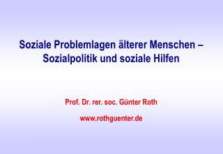Soziale Problemlagen  lterer Menschen   Sozialpolitik und soziale Hilfen