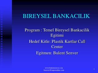 BIREYSEL BANKACILIK