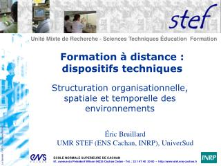 Formation à distance : dispositifs techniques