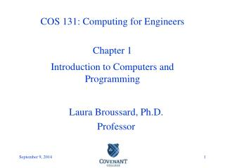 COS 131: Computing for Engineers