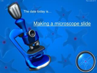 Making a microscope slide