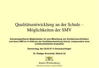 Qualit tsentwicklung an der Schule   M glichkeiten der SMV
