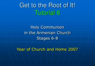 Get to the Root of It! Tutorial 6