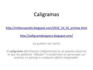 C aligramas