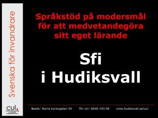 Svenska f�r invandrare