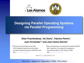 Designing Parallel Operating Systems via Parallel Programming