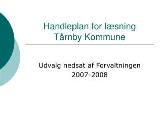 Handleplan for læsning Tårnby Kommune
