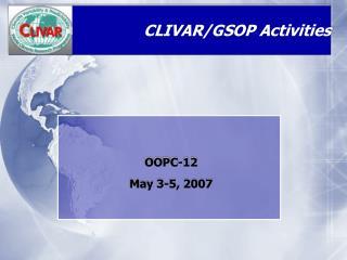CLIVAR/GSOP Activities