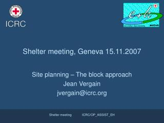 Shelter meeting, Geneva 15.11.2007