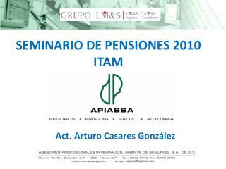 SEMINARIO DE PENSIONES 2010 ITAM