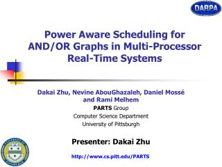 Power Aware Scheduling for AND/OR Graphs in Multi-Processor Real-Time Systems