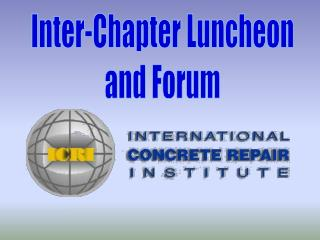 Inter-Chapter Luncheon and Forum