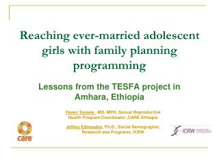 Reaching ever-married adolescent girls with family planning programming
