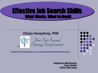 Effective Job Search Skills What Works, What to Avoid