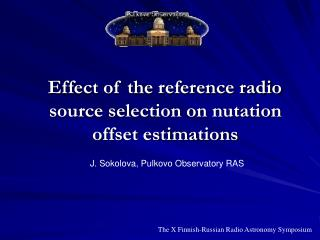 Effect of the reference radio source selection on nutation offset estimations