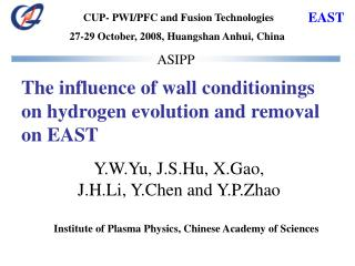 The influence of wall conditionings on hydrogen evolution and removal on EAST