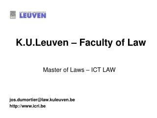 K.U.Leuven – Faculty of Law