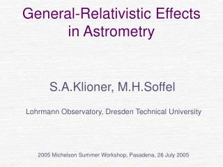General-Relativistic Effects  in Astrometry