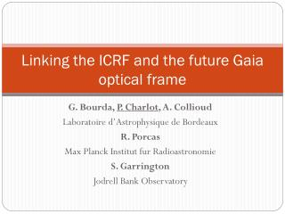 Linking the ICRF and the future Gaia optical frame
