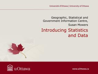 Introducing Statistics and Data