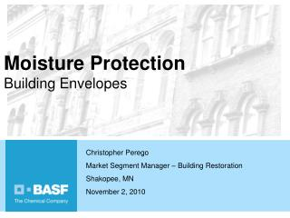 Moisture Protection Building Envelopes