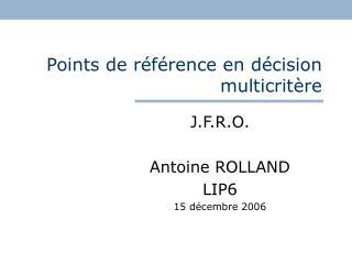 Points de référence en décision multicritère