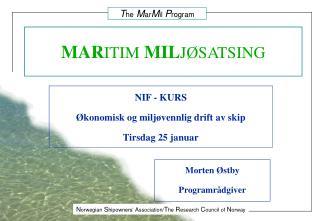 MARITIM MILJ SATSING