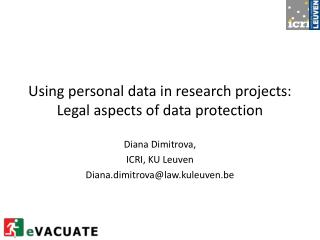 Using personal data in research projects: Legal aspects of data protection
