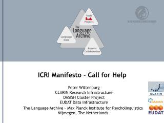 ICRI  Manifesto - Call for Help