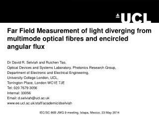 Far Field Measurement of light diverging from multimode optical fibres and encircled angular flux