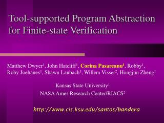 Tool-supported Program Abstraction for Finite-state Verification
