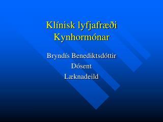 Klínisk lyfjafræði Kynhormónar