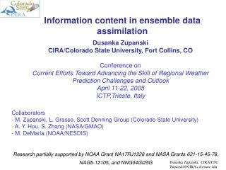 Information content in ensemble data assimilation