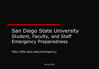 Campus Emergency Preparedness