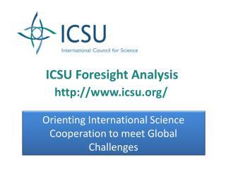 ICSU Foresight Analysis