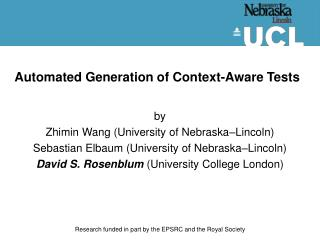 Automated Generation of Context-Aware Tests