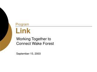Program  Link