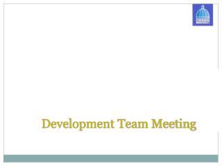 Development Team Meeting
