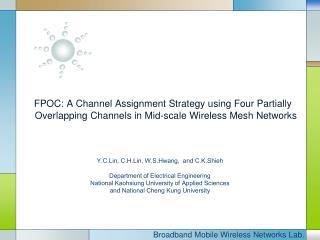 Broadband Mobile Wireless Networks Lab.