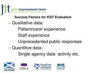 Success Factors for  ICST Evaluation