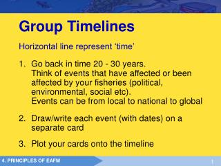 Group Timelines