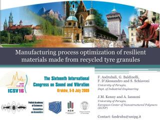 Manufacturing process optimization of resilient materials made from recycled  tyre  granules