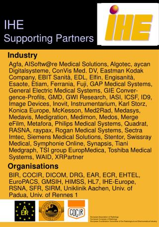 IHE Supporting Partners