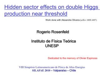 Hidden  sector  e ffects on double Higgs production near threshold