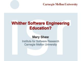 Whither Software Engineering Education?