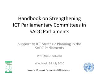 Handbook on Strengthening  ICT Parliamentary Committees in SADC Parliaments