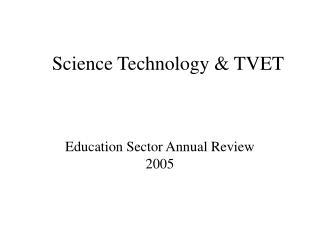 Science Technology & TVET
