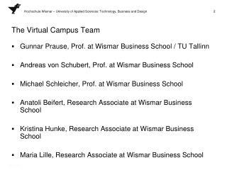 The Virtual Campus Team