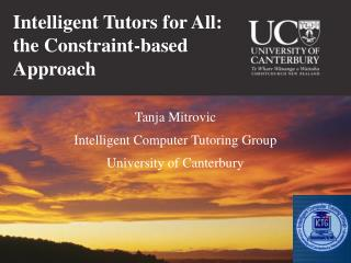 Intelligent Tutors for All: the Constraint-based  Approach
