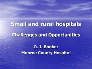 Small and rural hospitals